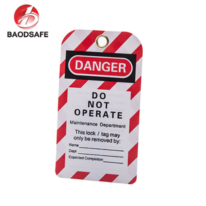 Durable Pvc General Safety Tags Red