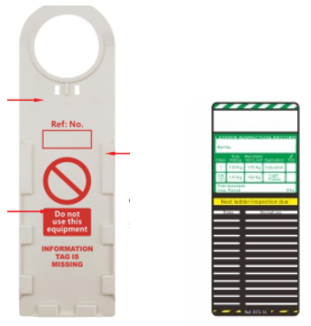 Durable PVC General Safety Scaffolding Tag