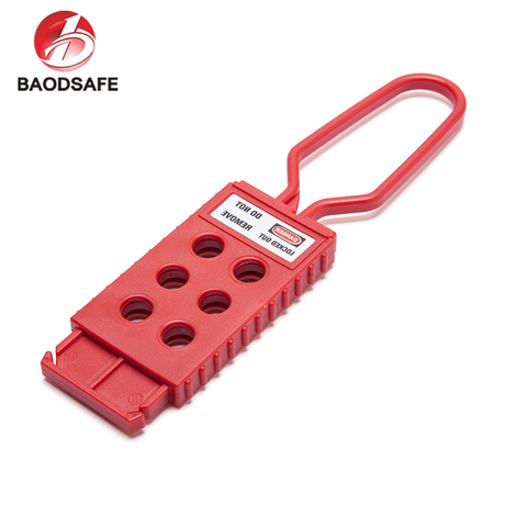 Industrial High Security Padlock Red Padlock Nylon Hasp Lockout